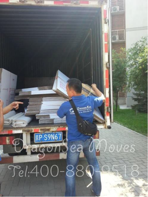 7月底北京到新加坡海运国际搬家客户家具包装!