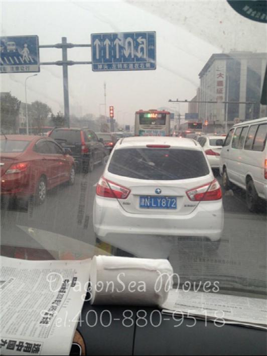 天津到美国客户海运国际搬家包装,雾霾
