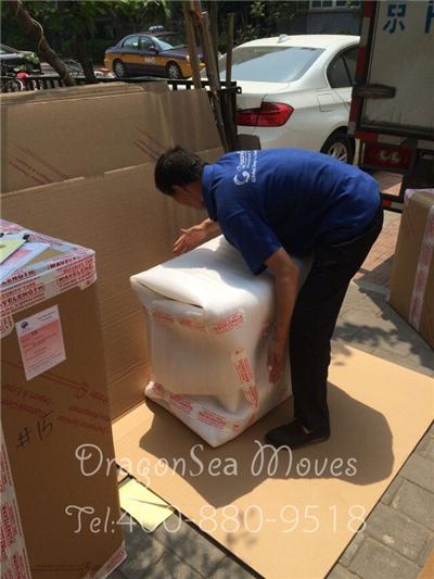 北京客户海运搬家到波士顿,打造免熏蒸木箱力量保家具海运安全