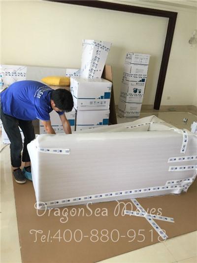 十一国庆节前两天,前往惠州为台湾客户提供海运搬家服务