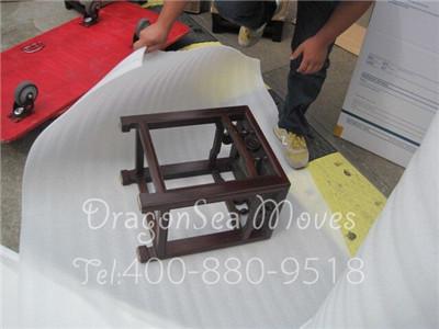 小立方老红木家具上海集中托运搬家到澳洲,件件精细包装