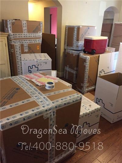 北京海运搬家到美国旧金山客户看了师傅的包装演示,决定还是将包装任务交给我们