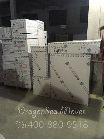 家具从广州搬家到美国,件件精细包装