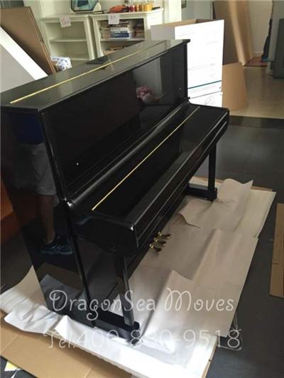 北京海运门到门到美国洛杉矶,专业包装保障钢琴安全