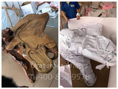 上海私人物品搬家运输到法国,木色古香家具的跨国搬家