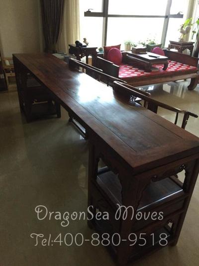 北京越洋海运红木家具到新加坡 中式之家新加坡复原